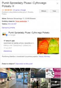 widocznosc w mapach Google zalezy od wizytówki w Google Business
